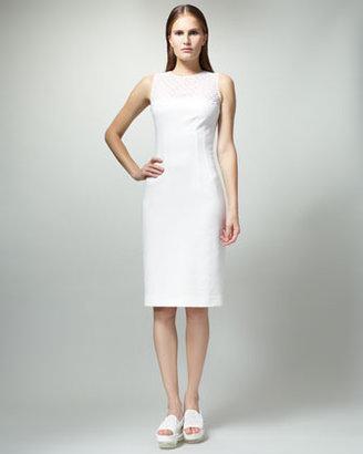 Stella McCartney Eyelet-Top Sheath Dress