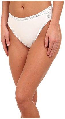 OnGossamer Cabana Cotton Hi-Cut Brief 024304 (White) Women's Underwear