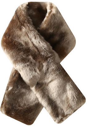 Hat Attack Faux Fur Short Pull Through Scarf