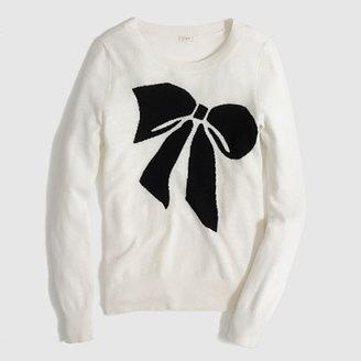 J.Crew Factory Factory warmspun intarsia big bow sweater