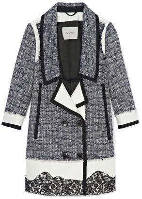 Peter Som Cotton Wool Tweed Coat