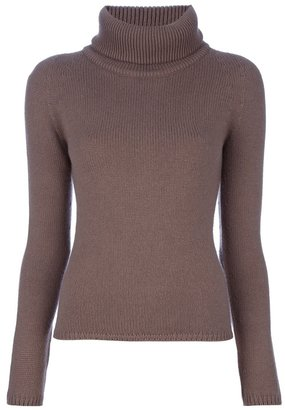 Cruciani Ribbed roll neck jumper