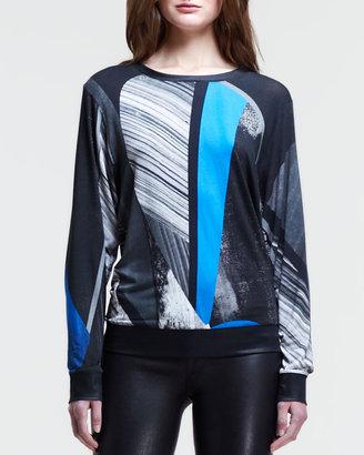 Helmut Lang Abstract-Print Pullover Sweatshirt