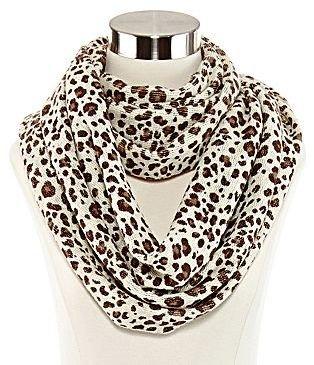 Liz Claiborne Leopard Print Infinity Scarf