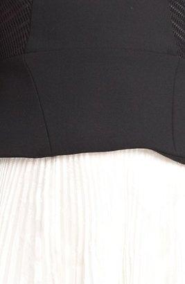 Jason Wu Long Sleeve Pleated Dress
