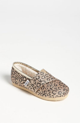 Toms 'Classic Tiny - Glitter' Print Slip-On (Baby, Walker & Toddler) (Nordstrom Exclusive)