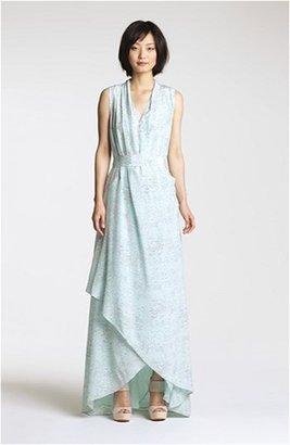 Rachel Zoe 'Celine' Print High/Low Silk Gown