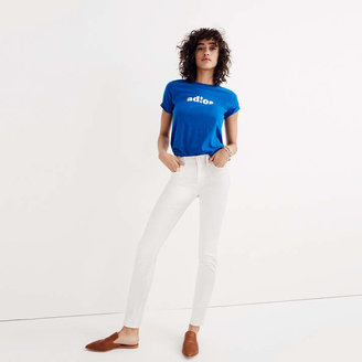 "9"" High-Rise Skinny Jeans in Pure White $125 thestylecure.com"