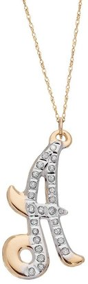 Diamond Fascination® 14k Gold Initial Pendant