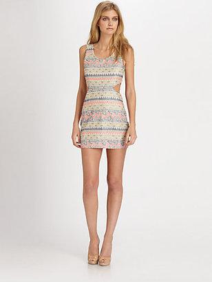 Parker Slash Printed Cutout Dress