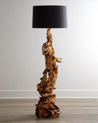 "Horchow Arteriors ""Ashland"" Dragon-Root Floor Lamp"
