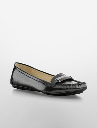 Calvin Klein Hazie Patent Leather Driving Shoe