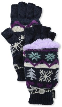 Muk Luks Women's Flip Glove with Fur Lining