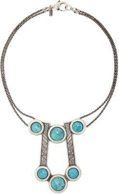 "Pamela Love Turquoise & Silver ""Comet"" Pendant Necklace"