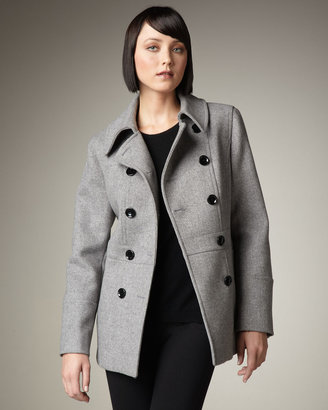 Neiman Marcus Double-Breasted Coat