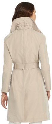 Brooks Brothers Gathered Neck Fly-Front Coat