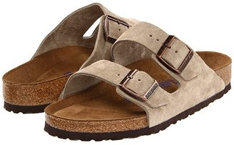 Birkenstock Arizona Soft Footbed - Suede (Unisex) (Taupe Suede) Sandals