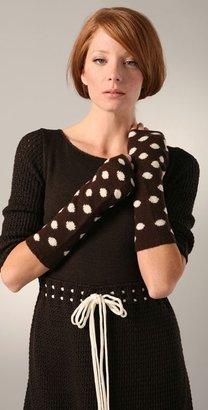 Alice + Olivia Polka Dot Fingerless Gloves