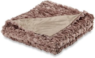 Bed Bath & Beyond Magnolia Faux-Fur Oversized Reversible Throw Blanket