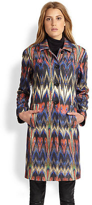 M Missoni Felted Wool Blend Zigzag Coat