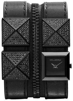 Karl Lagerfeld Double Strap Cuff Watch