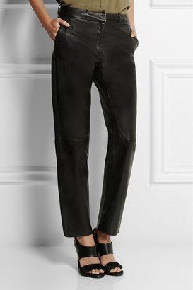 Balmain Pierre Leather straight-leg pants