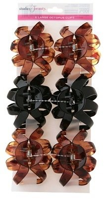 Studio 35 Hair Clips, 6 Piece Assorted Colors