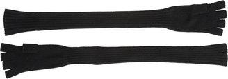 Barneys New York Extra-Long Fingerless Knit Gloves