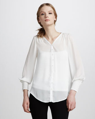 Elizabeth and James Pintucked Chantal Blouse
