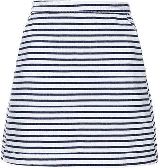 Topshop MOTO Stripe Denim A-line Skirt