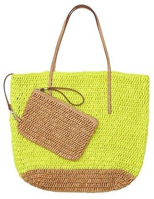 LOFT Straw Beach Bag