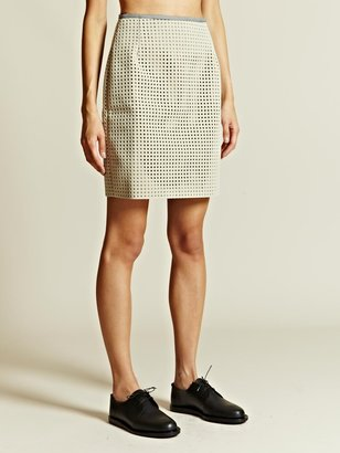 J.W.Anderson Women's Perforated Cage Skirt