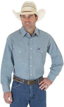 Wrangler Men's Cowboy Cut Work Western Long Sleeve Shirt