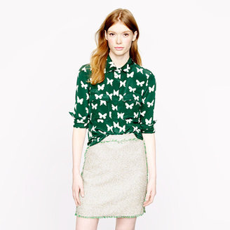 J.Crew Silk butterfly blouse