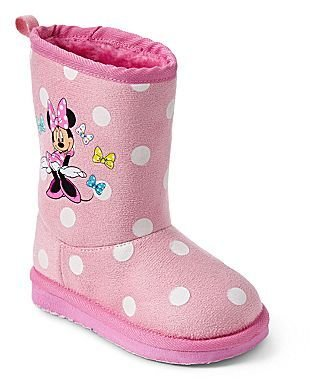 Disney Pink Minnie Mouse Girls Boots
