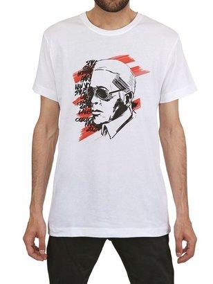 Karl Lagerfeld Printed Head Cotton T-Shirt