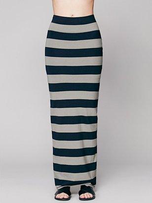 Free People Rugby Stripe Column Skirt