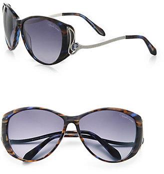 Roberto Cavalli Kandooma Round Drop Temple Sunglasses