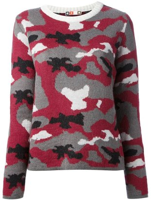 MSGM camouflage knit sweater
