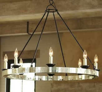 Pottery Barn Parsons Mirrored Chandelier