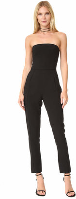 Black Halo Iris Strapless Jumpsuit $325 thestylecure.com