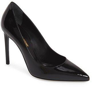 Women's Saint Laurent 'Paris Skinny' Pointy Toe Pump $595 thestylecure.com