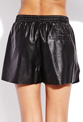 Forever 21 Favorite Faux Leather Dolphin Shorts