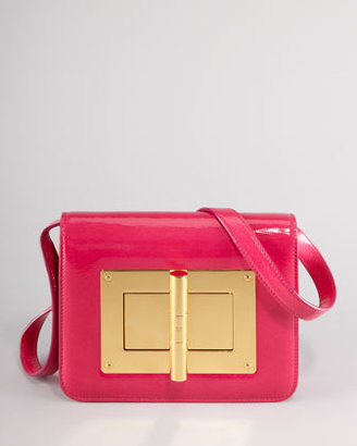 Tom Ford Natalia Medium Hot Pink Patent Shoulder Bag