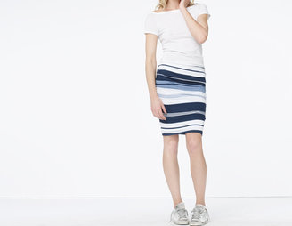 James Perse Pacific Stripe Pencil Skirt