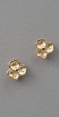 St Kilda Gold Tiny Flower Studs