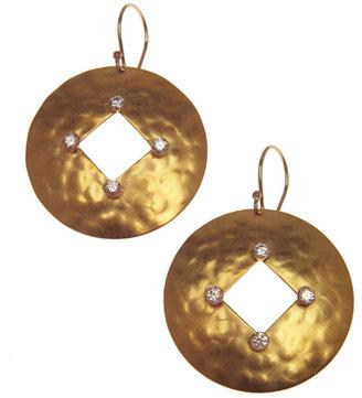 Evelyn Knight Diamond Cutout Earrings