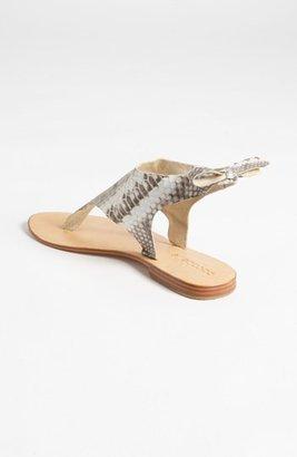 Cocobelle Snakeskin Tie Sandal