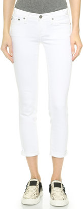 AG Stilt Cigarette Roll Up Jeans $176 thestylecure.com