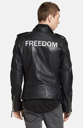 BLK DNM 'Leather Jacket 5 - Freedom' Leather Moto Jacket
